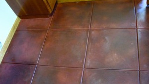 Stain Concrete Without Mechanically