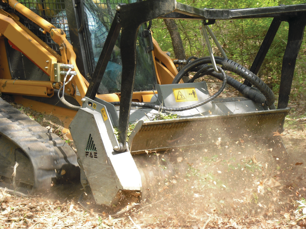 Attachments Convert Skid Steers Into Mobile Mulching Machines