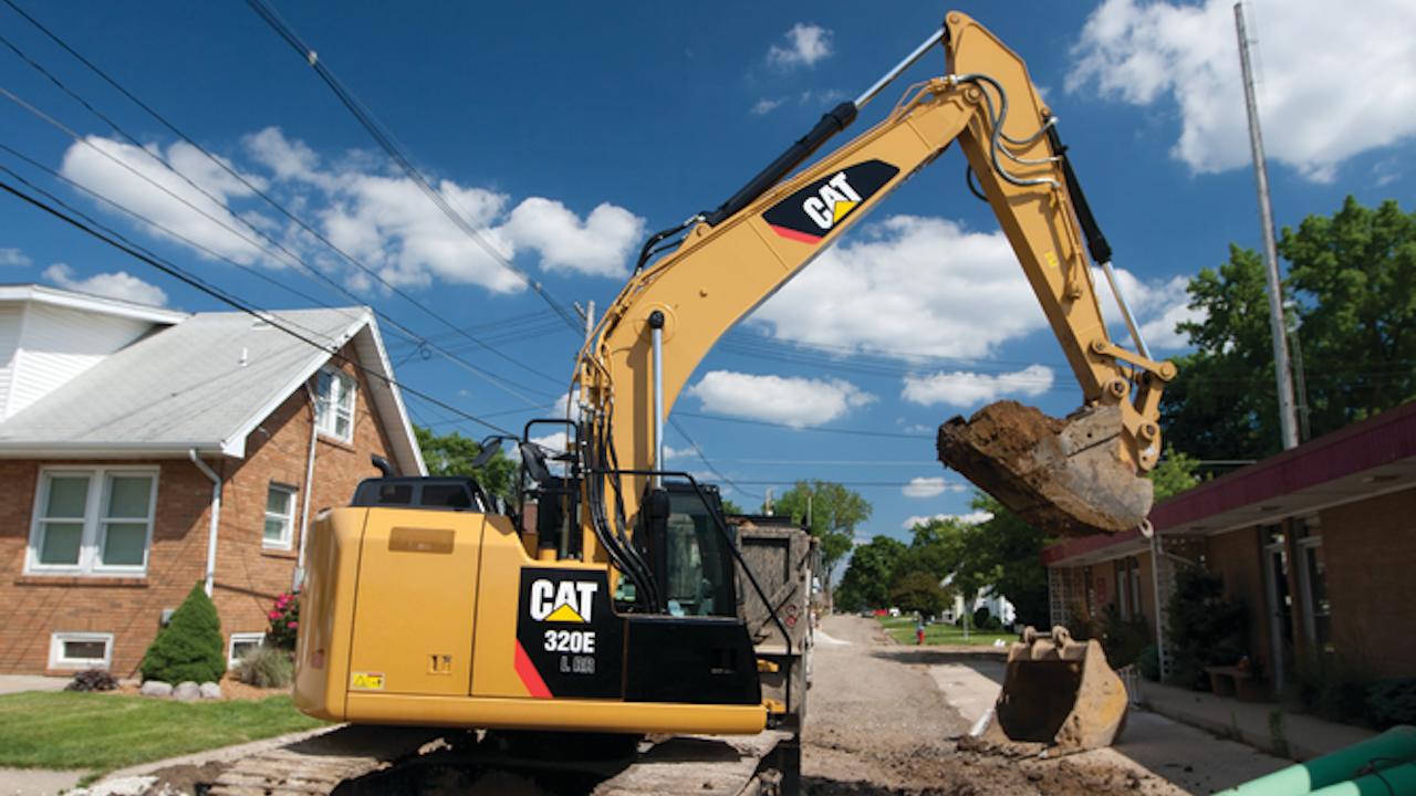 """Quando devi assicurarti uno swing e un miss  """"zero tailswing"""" escavatori Cat-320e-l-rr-hydraulic-excava_11080219"""