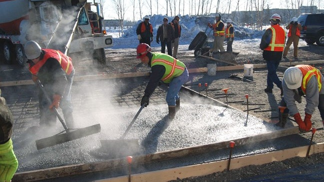 Cold Weather Concrete Pouring For