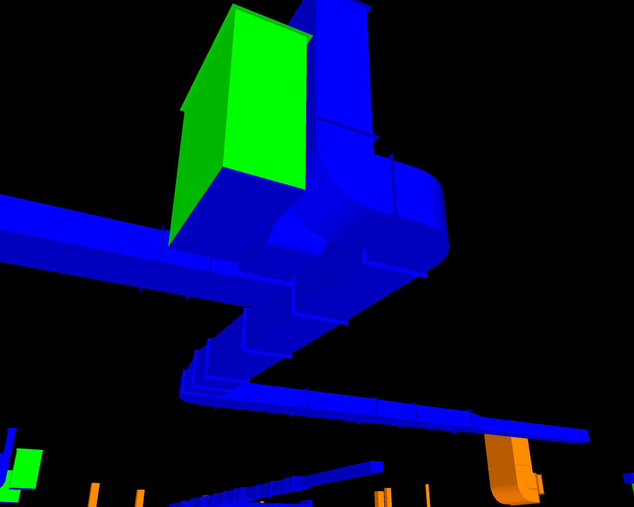 Finished BIM model drawn from 3D scan.