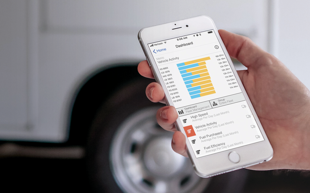 The Verizon Connect system collects and analyzes the data coming in from vehicles and equipment and delivers actionable driver safety insights so you don't have to go searching for it. The insights can be delivered in the form of reports, alerts and dashboards via an internet connected browser or mobile app.